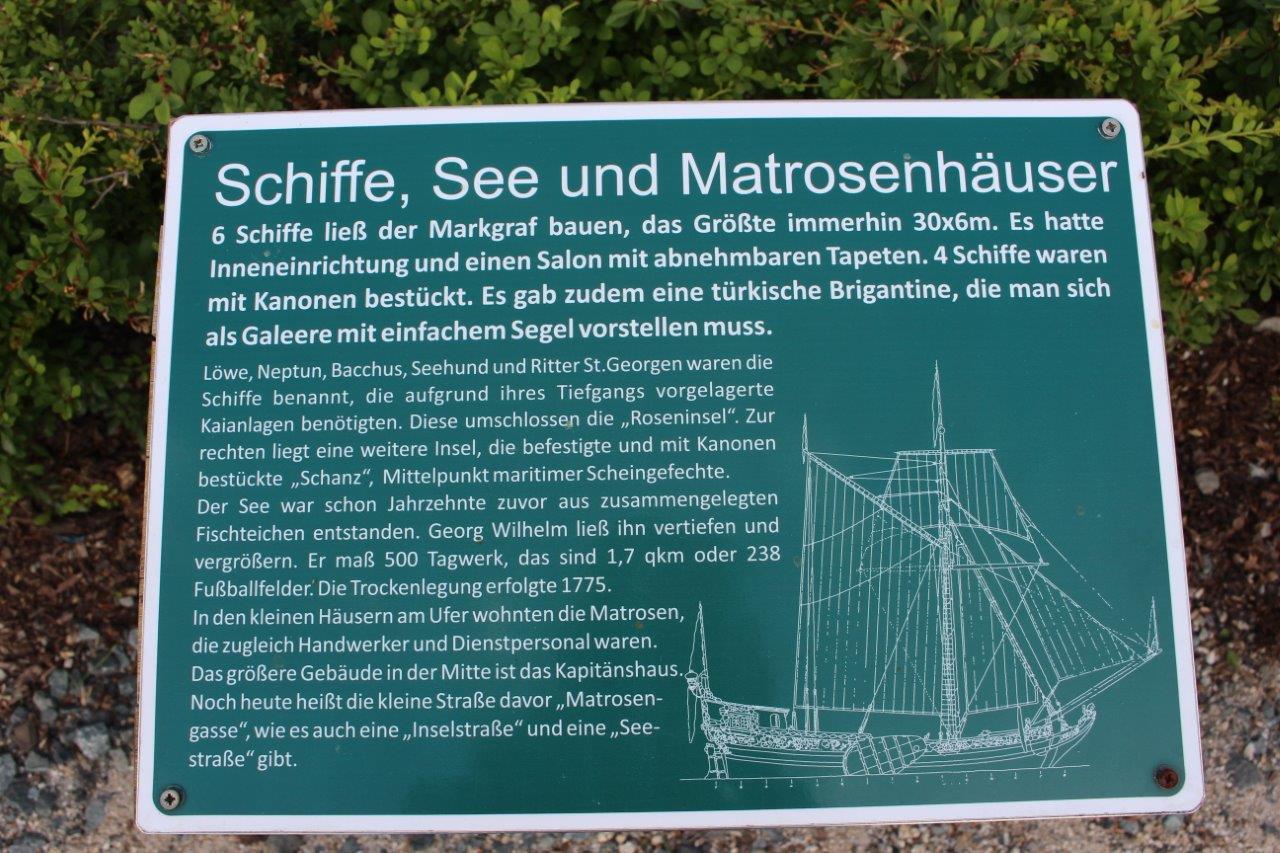 Schild: Schiffe, See und Matrosenhäuser
