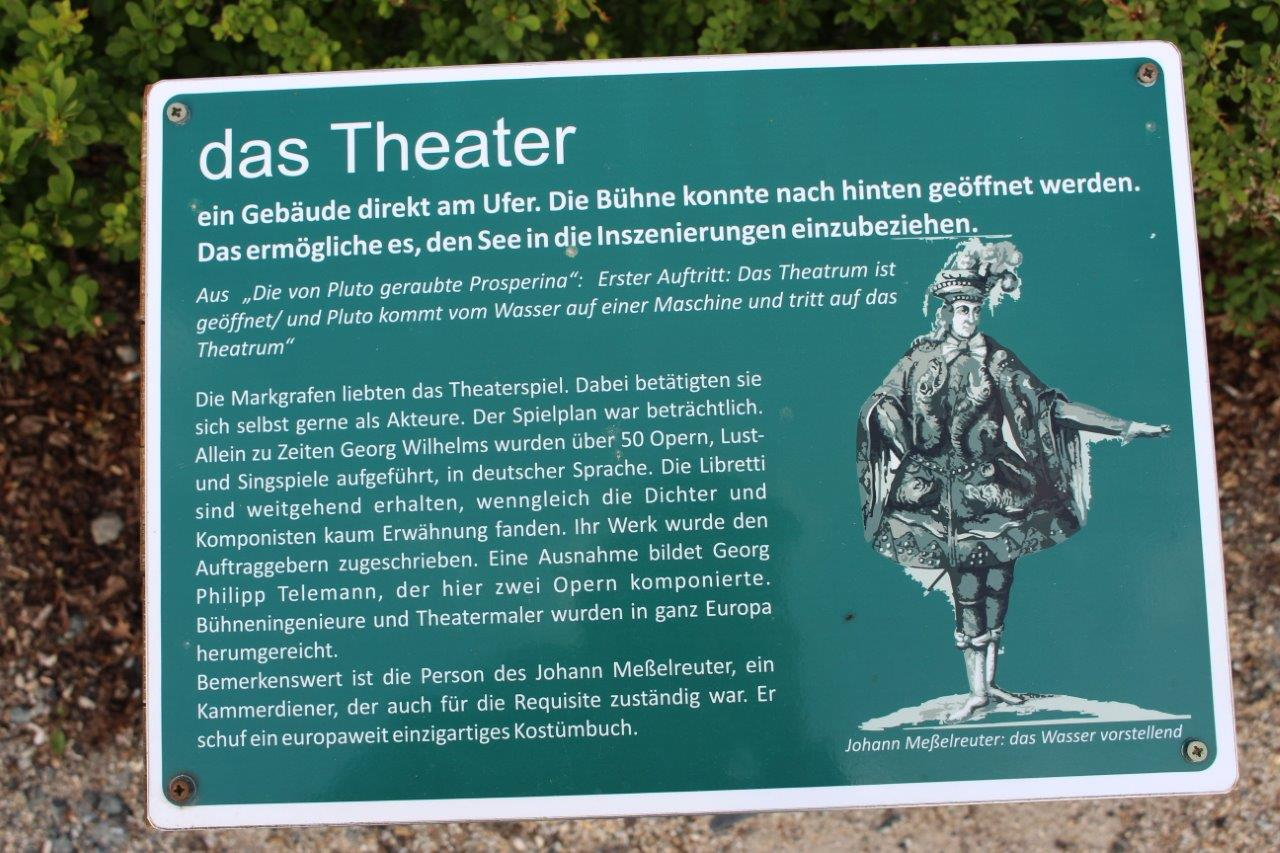 Schild: das Theater