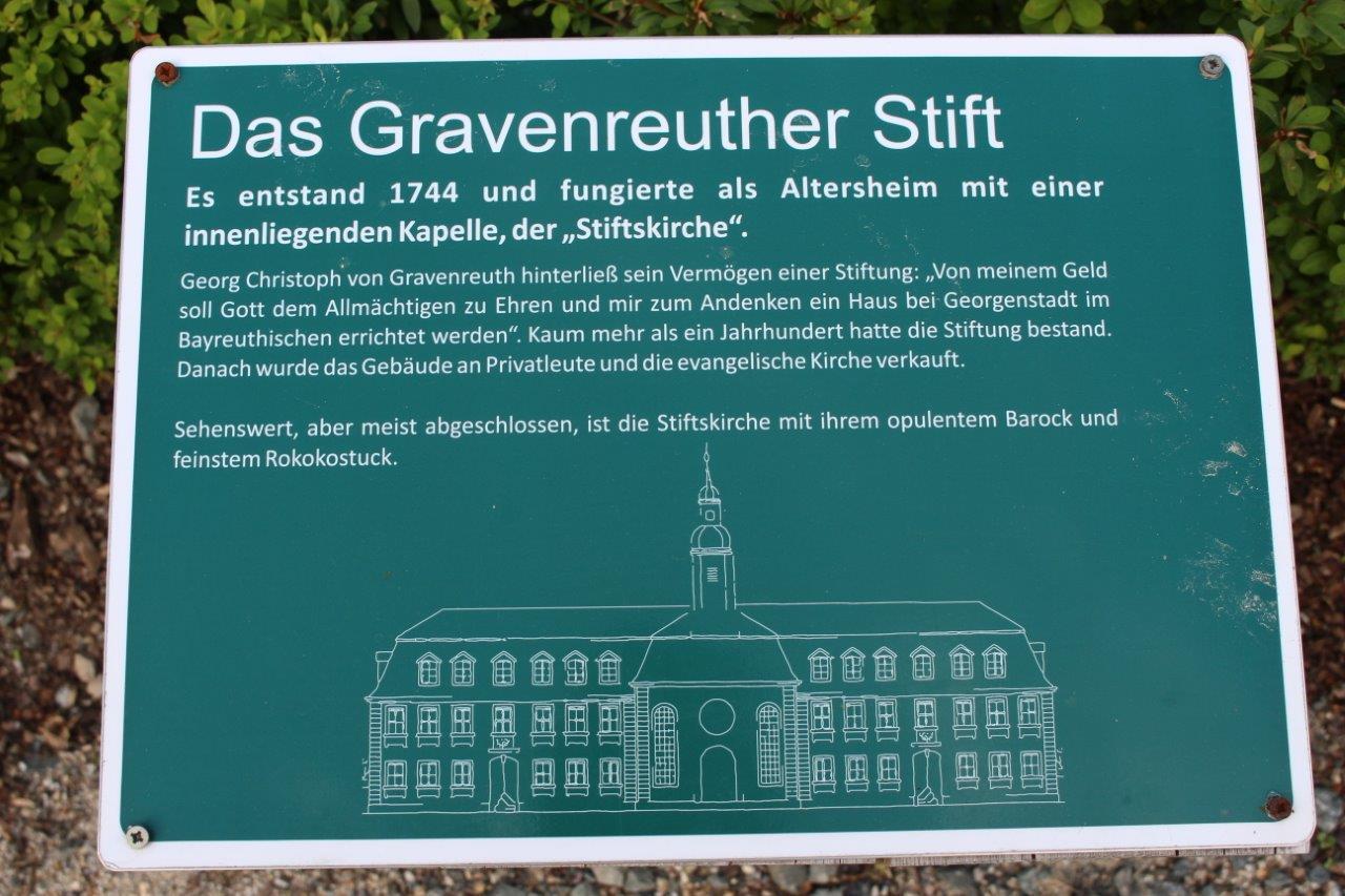Schild: Das Gravenreuther Stift